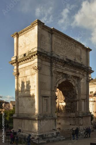 The Triumphal Arch of Titus Canvas Print