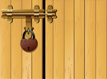 Doors Locked With Traditional Padlock