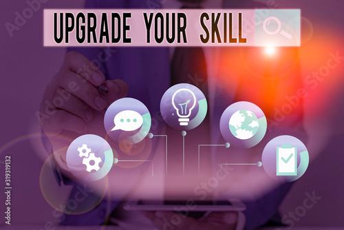 Obraz na plátne Word writing text Upgrade Your Skill