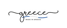 Made In Greece Handwritten Cal...