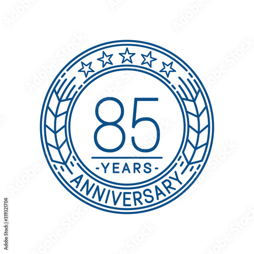 Fotografía 85 years anniversary celebration logo template