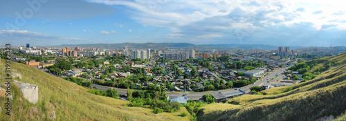 Fototapeta Panorama miasta Krasnojarsk w syberyjskiej części Rosji obraz