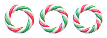 Set Of Candy Cane Circle Frame...