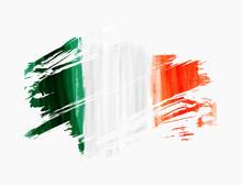 Abstract Watercolor Ireland Flag