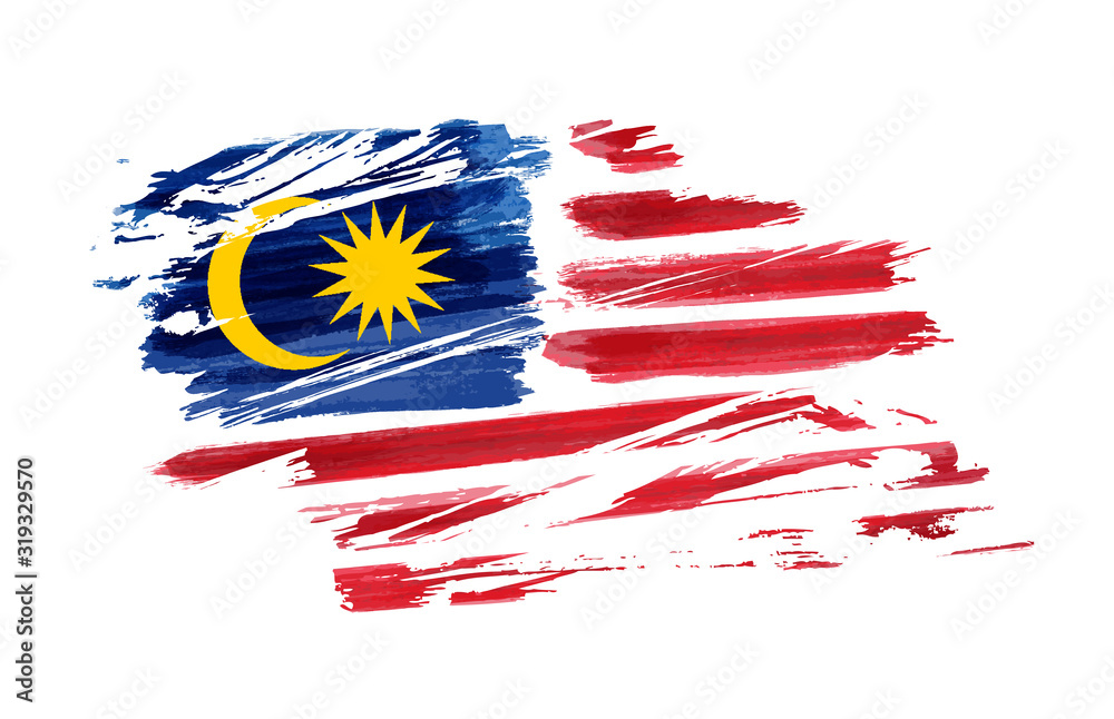 Fototapeta Grunge Malaysia flag