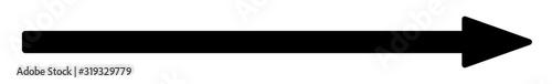 Fototapeta Arrow Long Icon Black | Arrows | Infographic Illustration | Direction Symbol | P