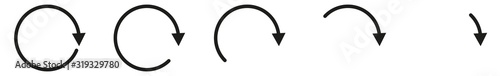 Photo Arrow Icon Black | Circle Arrows | Infographic Illustration | Direction Symbol |