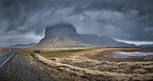 Stormy Icelandic Mountain
