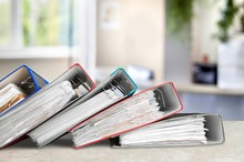 File Folders With Documents On...