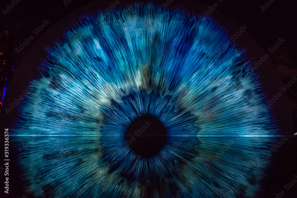 Fototapeta eye shape art structure