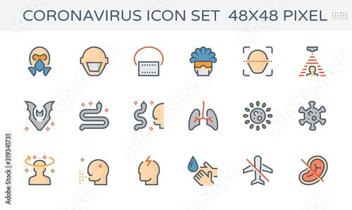 koronawirus wektor ikona