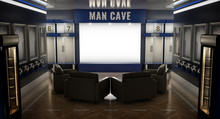 Soccer Man Cave Interior