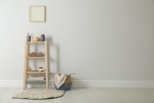 Wooden Shelving Unit With Toil...