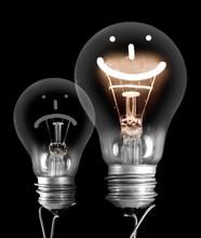 Dark And Shining Light Bulbs W...