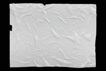 Wet Crumpled Glued Paper Background Or Texture