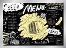 Vintage Beer Table Menu (beer,...