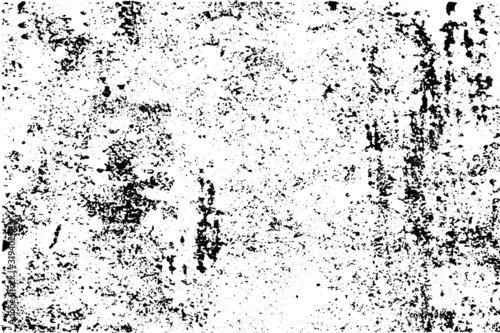 Slika na platnu Grunge rough black textured vector background