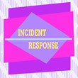 canvas print picture - Word writing text Incident Response. Business photo showcasing addressing and analysing the aftermath of a security breach Asymmetrical uneven shaped format pattern object outline multicolour design