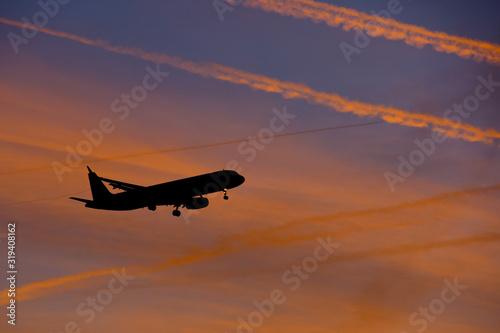 Photo avion vol survol ciel