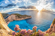 canvas print picture - Navagio beach with shipwreck on Zakynthos island, Greece