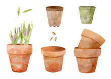 Clay Flower Pots For Seedings....