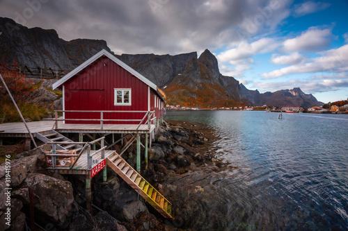 Obraz na płótnie Autumn in Lofoten wiht pretty colours and great light
