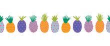Pineapples Abstract Seamless V...