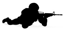 Silhouette Military Armed Forc...