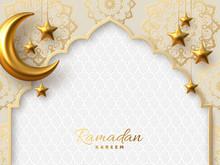 Ramadan Kareem Vector Card Wit...