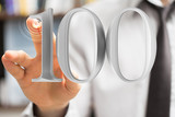 Fototapeta Kawa jest smaczna - 100 Anniversary 3d numbers. Poster template for Celebrating 100 anniversary event party.