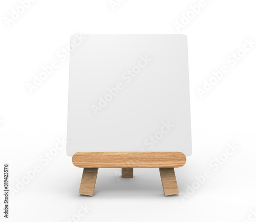 Fotografía Advertising picture calendar display blank art board  mini easel wooden stand or standee template mock up