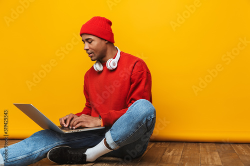 Portrait of an attractive confident casual young man
