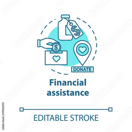Financial assistance concept icon Canvas Print