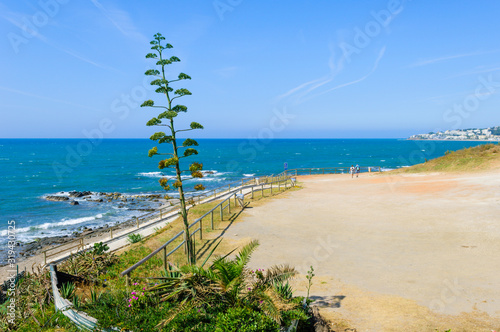 Fotografie, Obraz Playa del Chaparral, Mijas, Andalusia, Spain