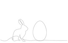 Easter Background Egg And Bunn...