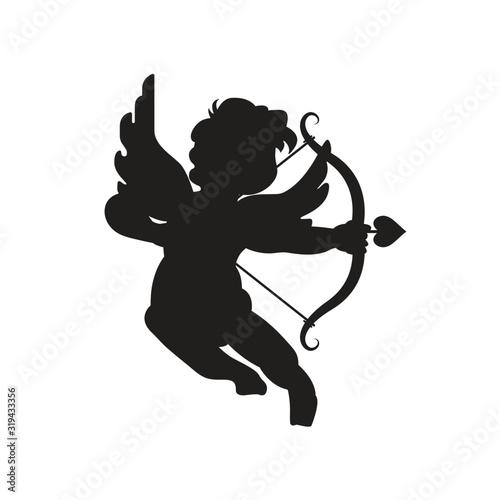 Cute cupid silhouette Wallpaper Mural