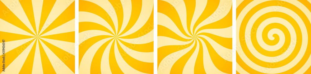 Fototapeta Set of sweet candy abstract vector backgrounds