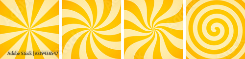 Obraz Set of sweet candy abstract vector backgrounds - fototapety do salonu