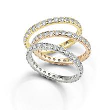 Diamond Eternity Rings Isolated On White Background