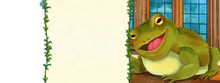 Cartoon Scene With Frog In The...