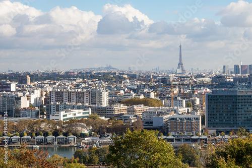 Panorama Paris Wallpaper Mural