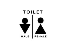 Abstract And Unique Toilet Ico...