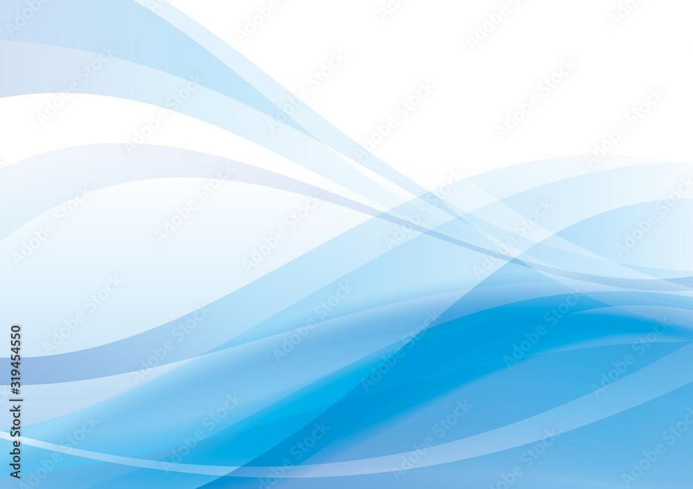 Fototapeta 抽象 曲線 背景 青