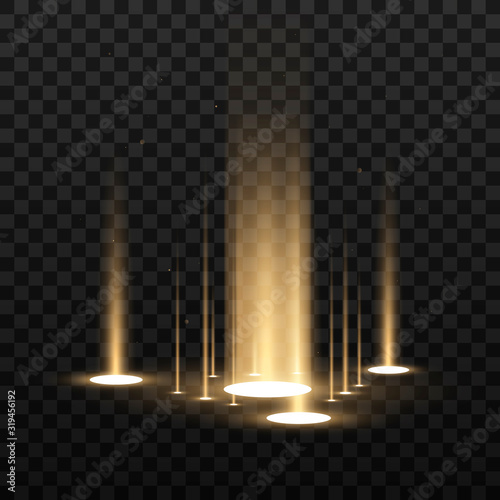 Vector light sources, backlights Canvas Print