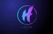 Alphabet H Letter Logo Grunge ...