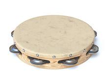 Wooden Tambourine 3D