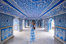 Woman Posing At City Palace , ...