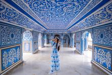 Woman Posing At City Palace , Jaipur, Rajasthan, India