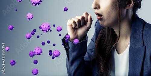 Obraz ウイルス 感染症 - fototapety do salonu