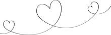 Heart Contour In Black, Illust...